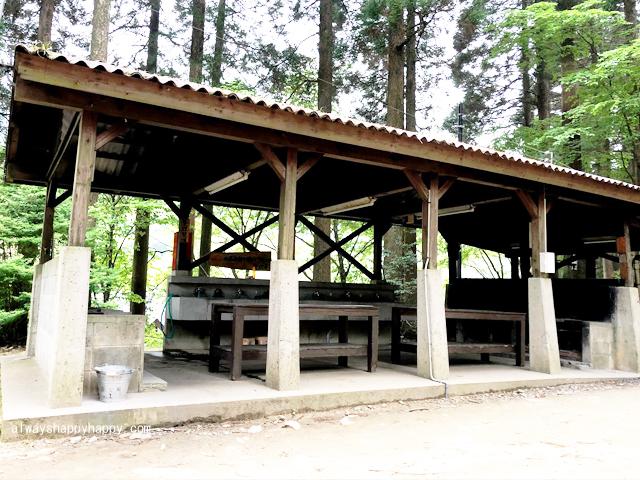 真名子木の香ランドキャンプ場 炊事場